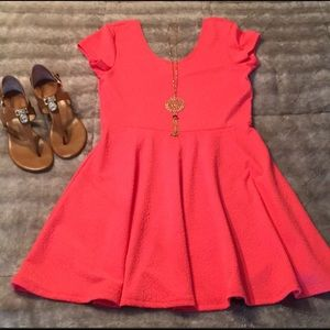 Planet Gold Coral Dress
